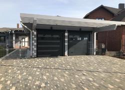 Купить двойные гаражные ворота с окнами